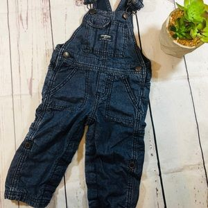 Baby overalls dark wash